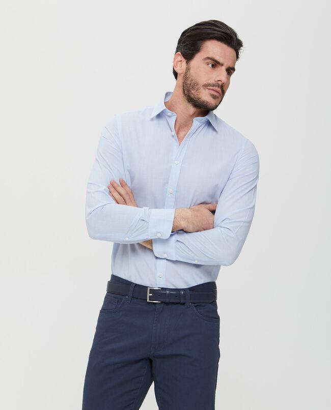 Camicia azzurra in tinta unita uomo