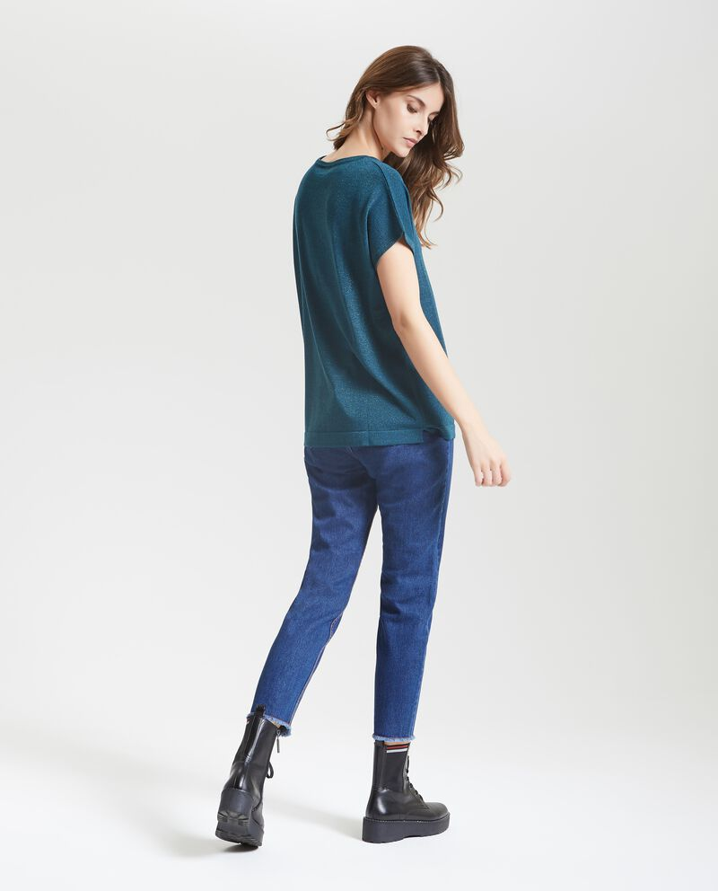 Top tricot in tinta unita donna