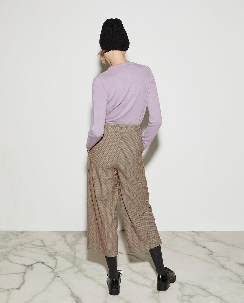 Pantaloni culotte con motivo a quadri donna