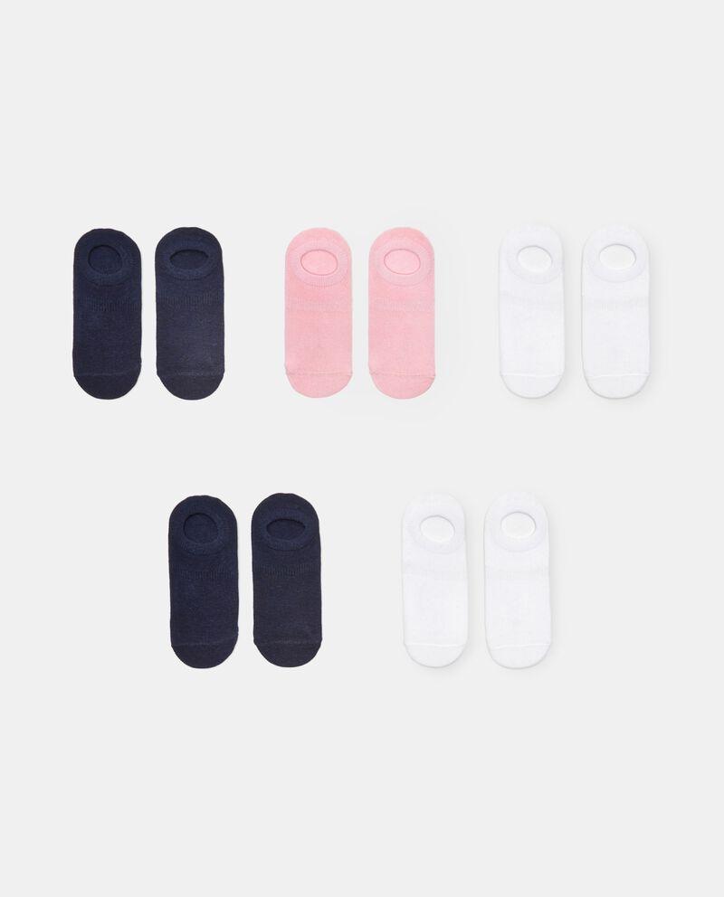 Pack di 5 paia di calzini in cotone stretch bambina