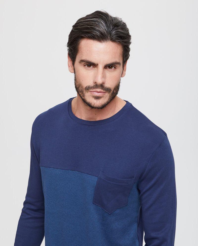 Maglia pigiama bicolore con taschino