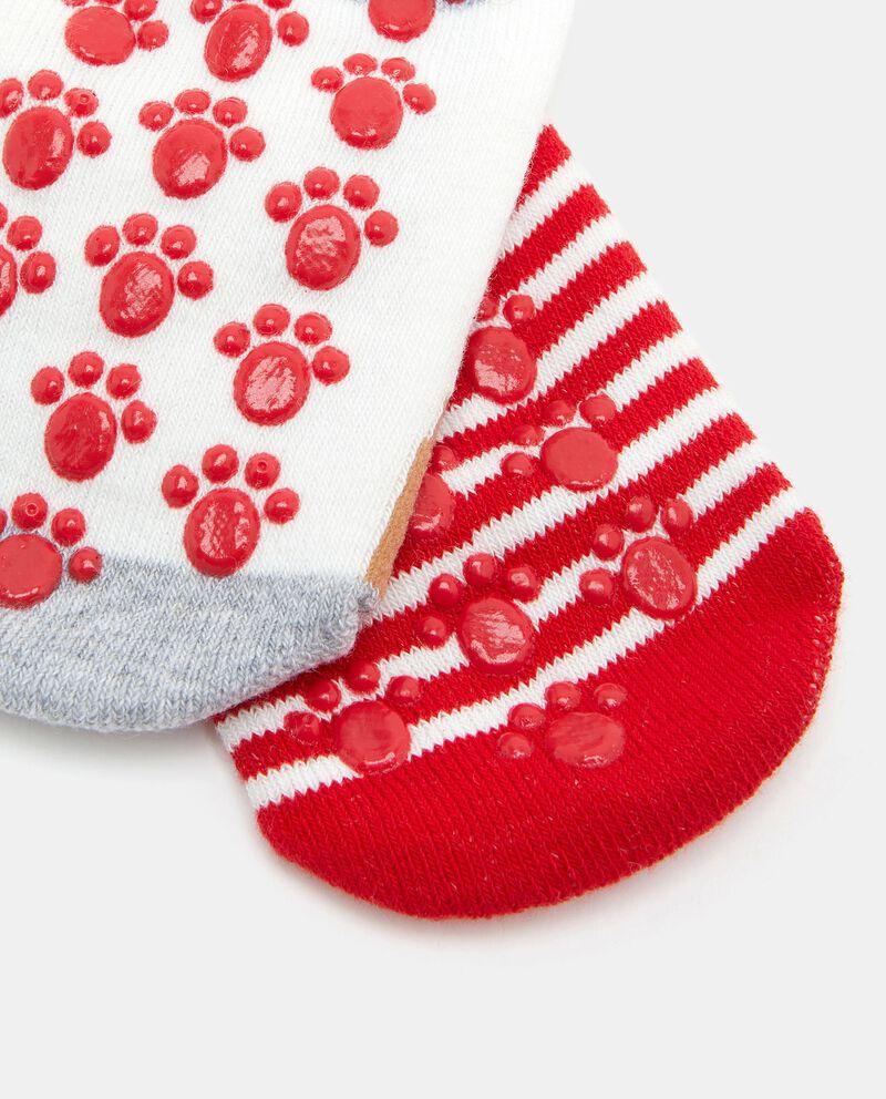 Bipack calzini antiscivolo cotone biologico