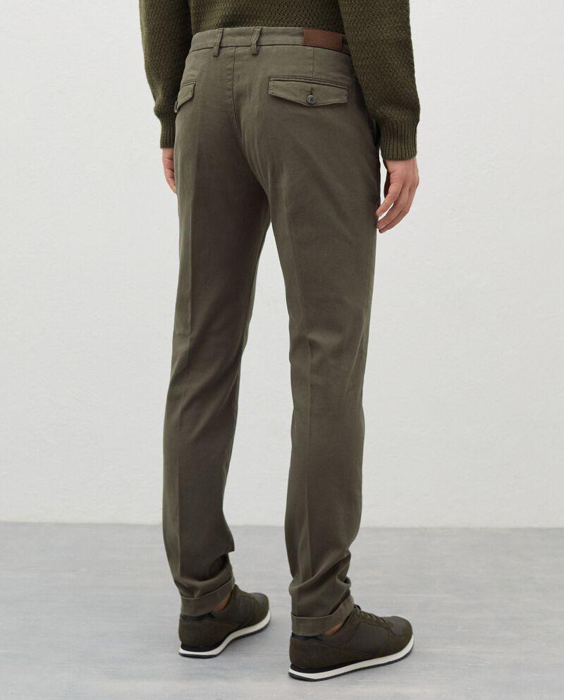 Pantaloni chino in cotone stretch uomo single tile 1