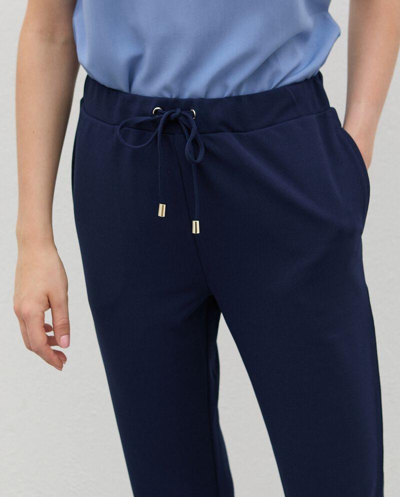 Pantaloni con coulisse crepe donnadouble bordered 2