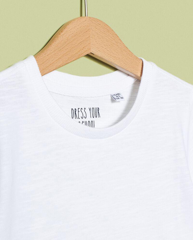 T-shirt in tinta unita di puro cotone biologico