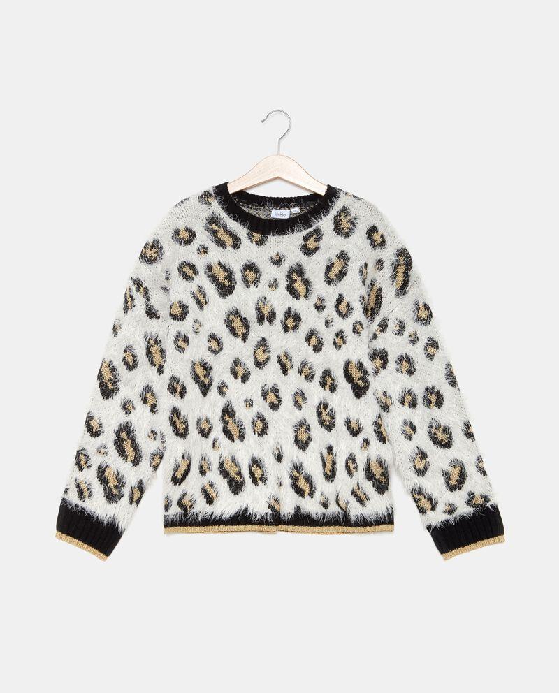 Maglione con fantasia animalier ragazza