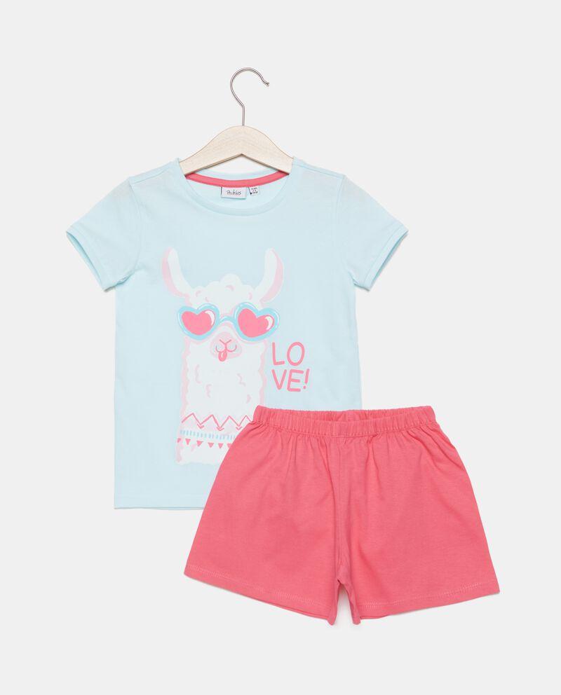 Set pigiama stampato in puro cotone bambina