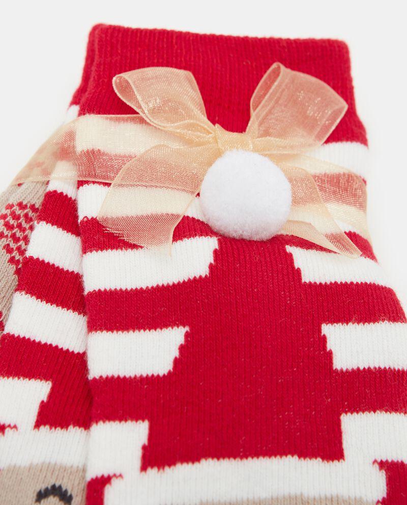 Set calzini con fantasia natalizia bambina
