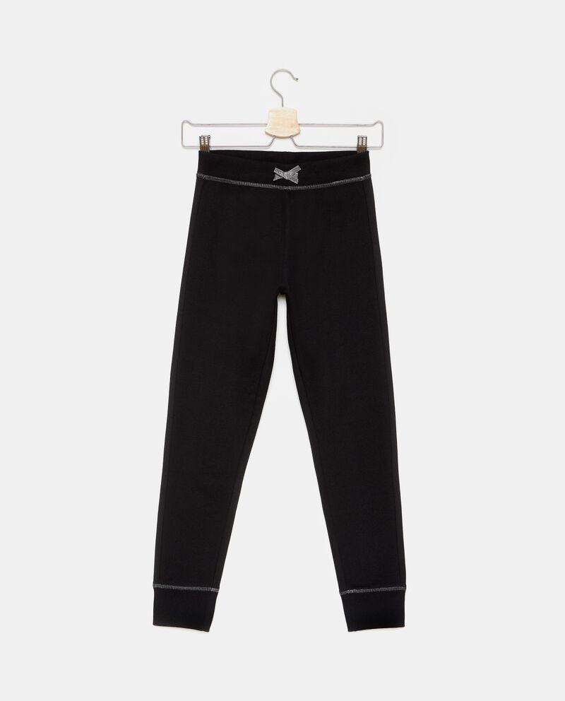 Pantaloni con fiocchetto in vita