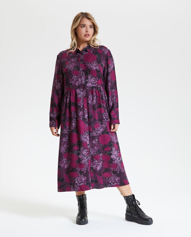 Vestito floreale taglie comode donna
