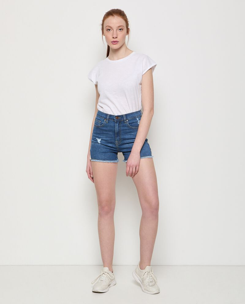 Shorts jeans in cotone stretch donna