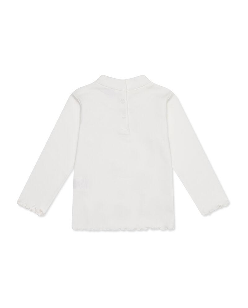 T-shirt cotone collo alto e stampa