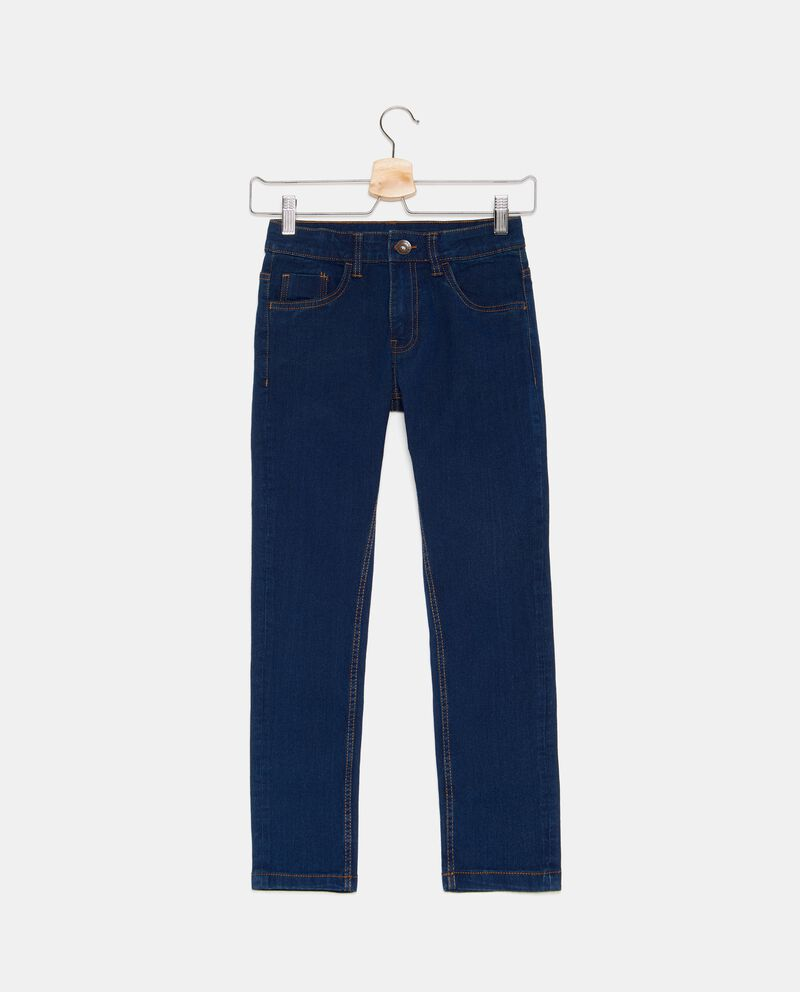 Jeans in tinta unita