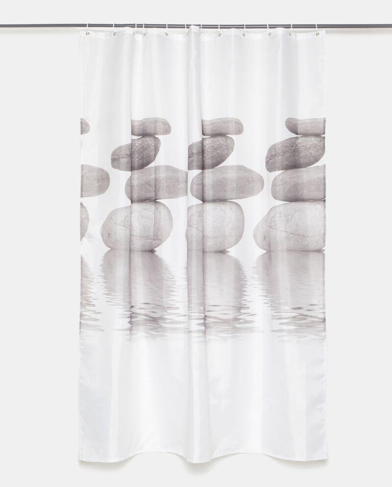 Tenda doccia con stampa sassi cover
