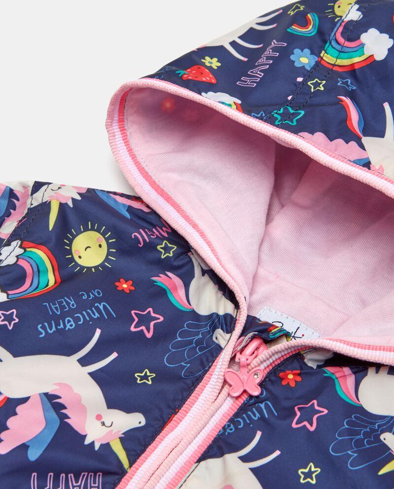 Giubbottino neonata con zip e cappuccio
