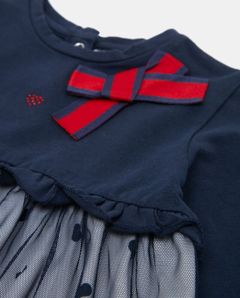 Vestito con gonna in velo neonata