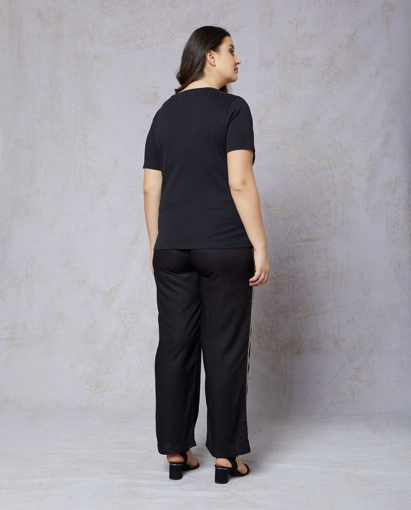 T-shirt in puro cotone fitness Curvy