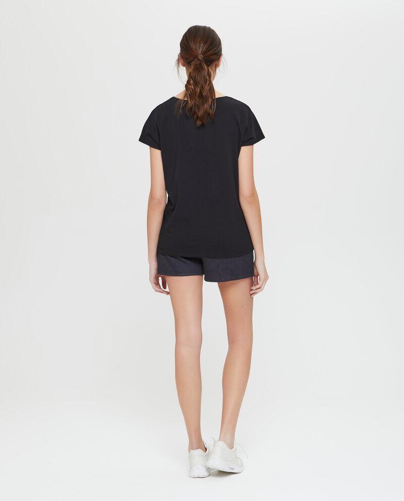 T-shirt sportiva stretch con laccetti