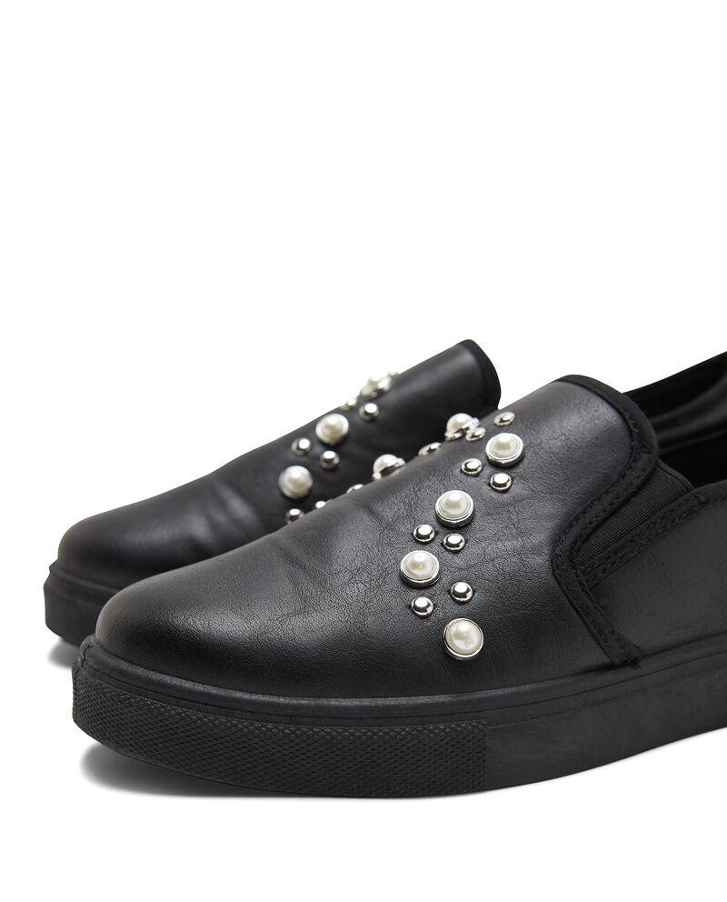 Sneakers tinta unita con perline