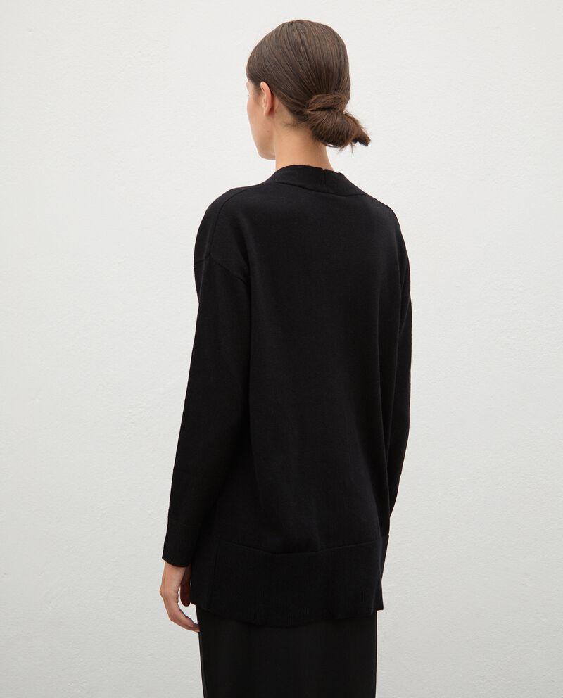 Cardigan tricot in lana con bottoni donna single tile 1