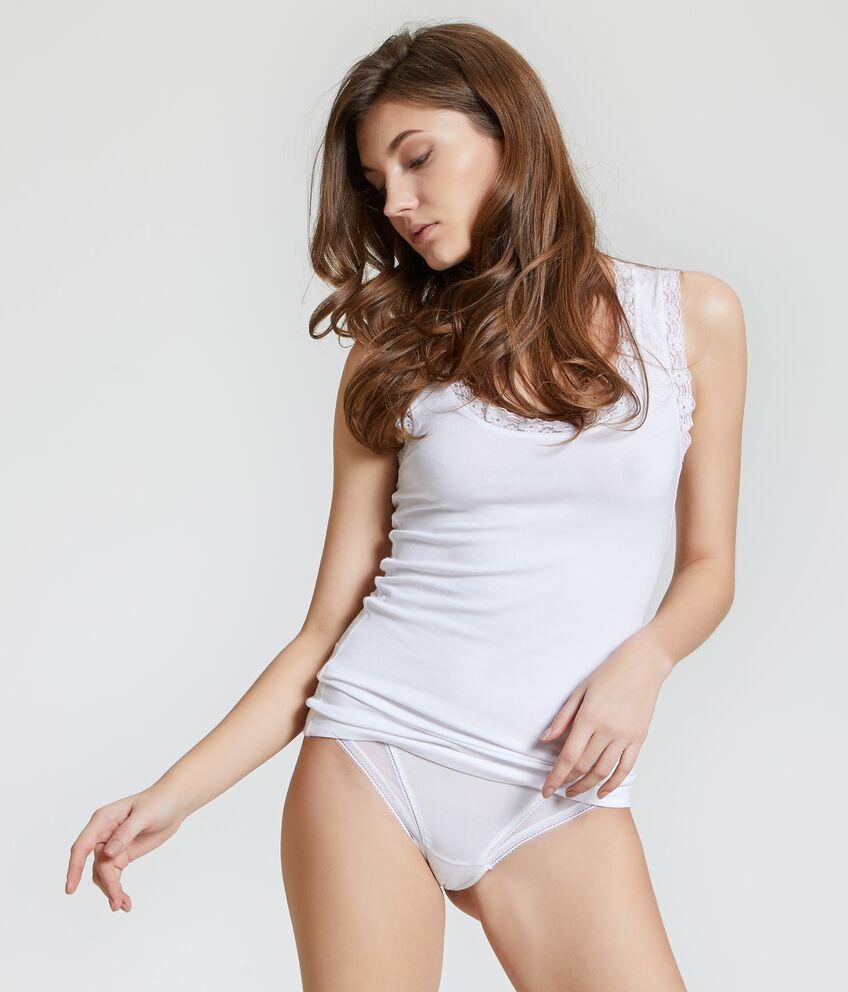Canotta intima pizzo donna