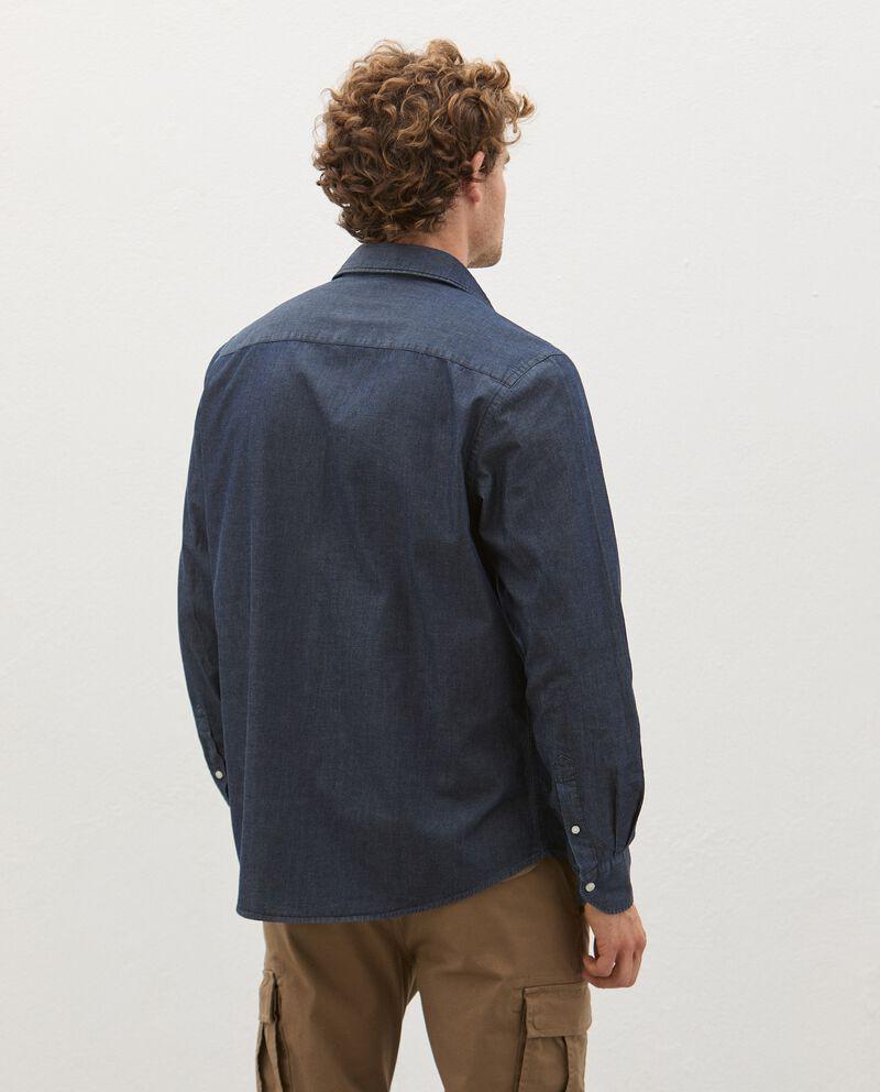 Camicia in jeans di puro cotone uomo single tile 1