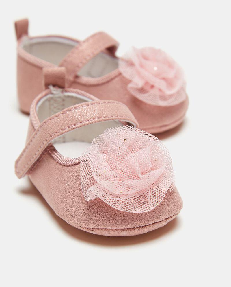 Sandalo con fiore in tulle neonata single tile 1