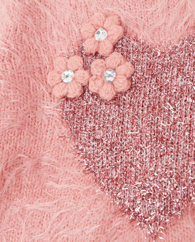 Maglione morbido con cuore neonata
