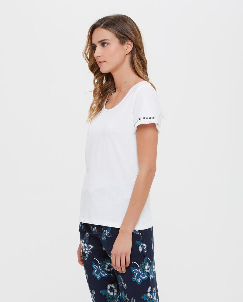 T-shirt in puro cotone a maniche corte donna