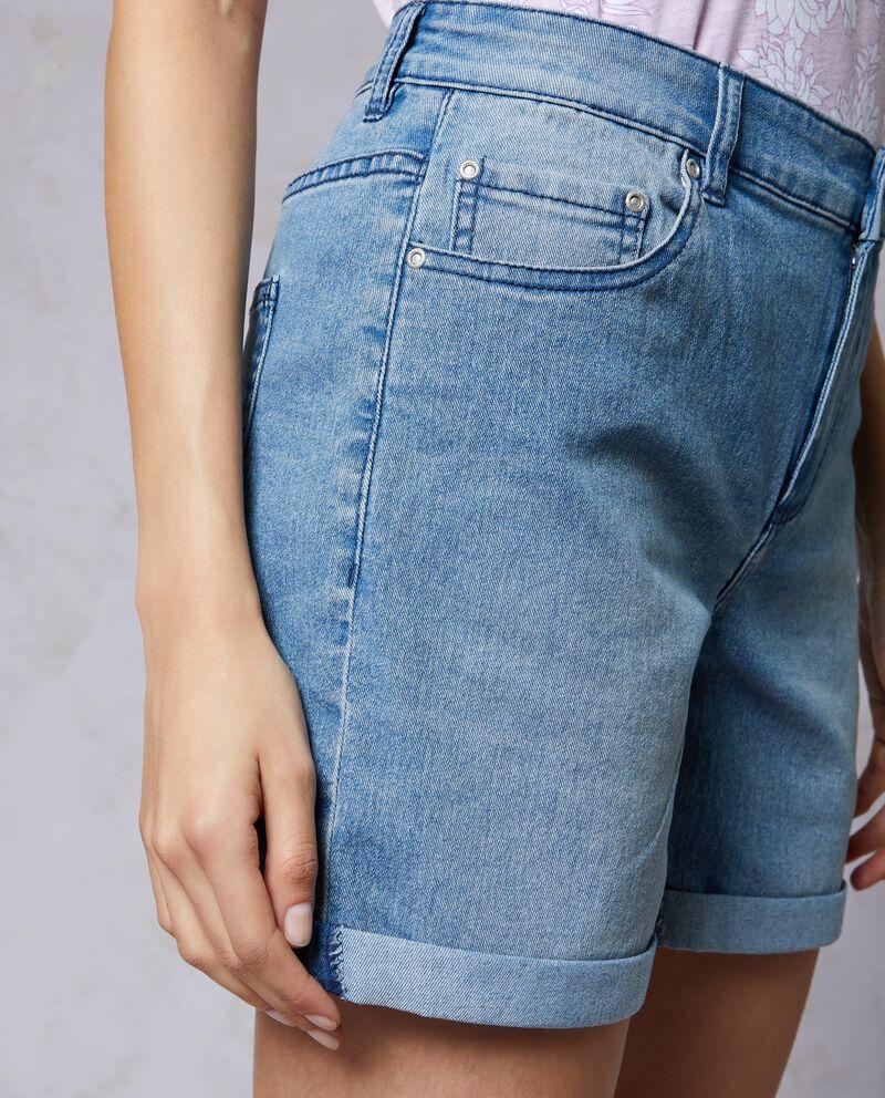 Shorts jeans donna in misto cotone