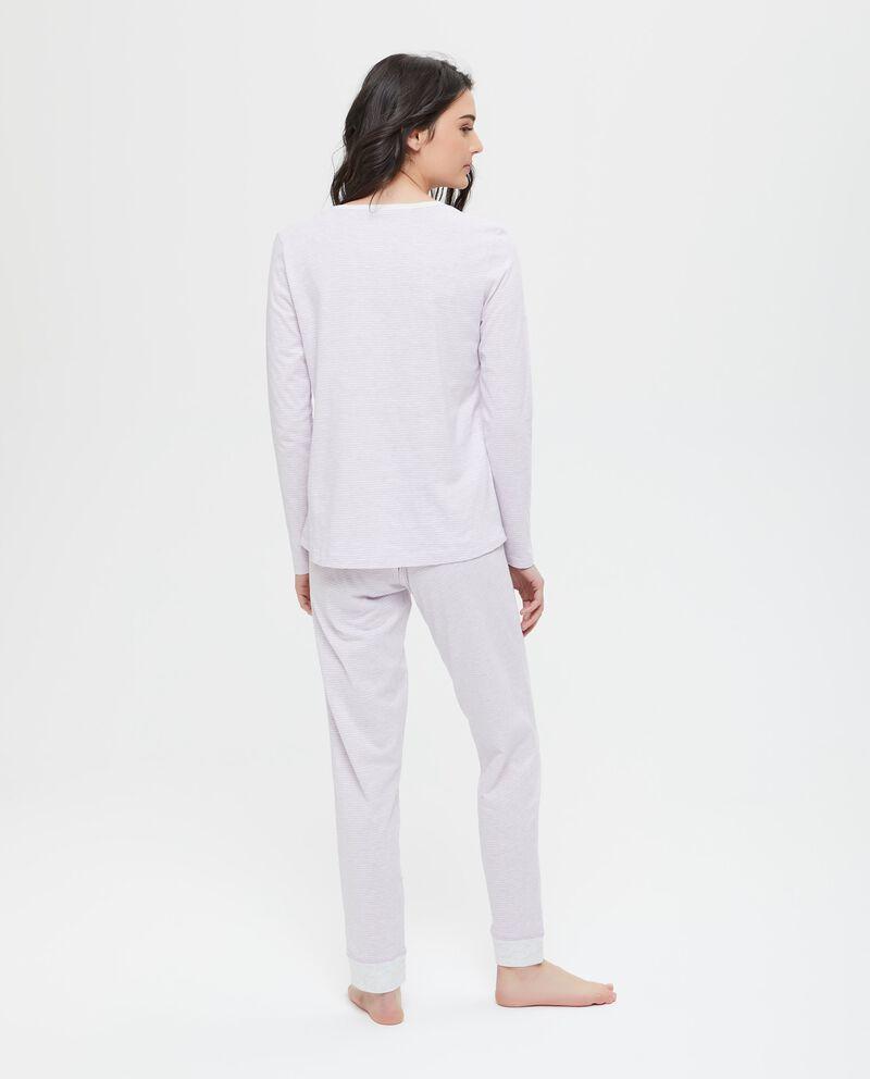 Maglia pigiama fantasia a righe