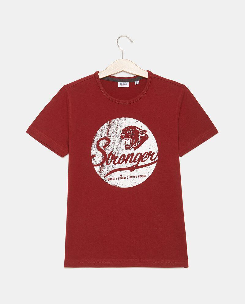 T-shirt con lettering in puro cotone ragazzo cover