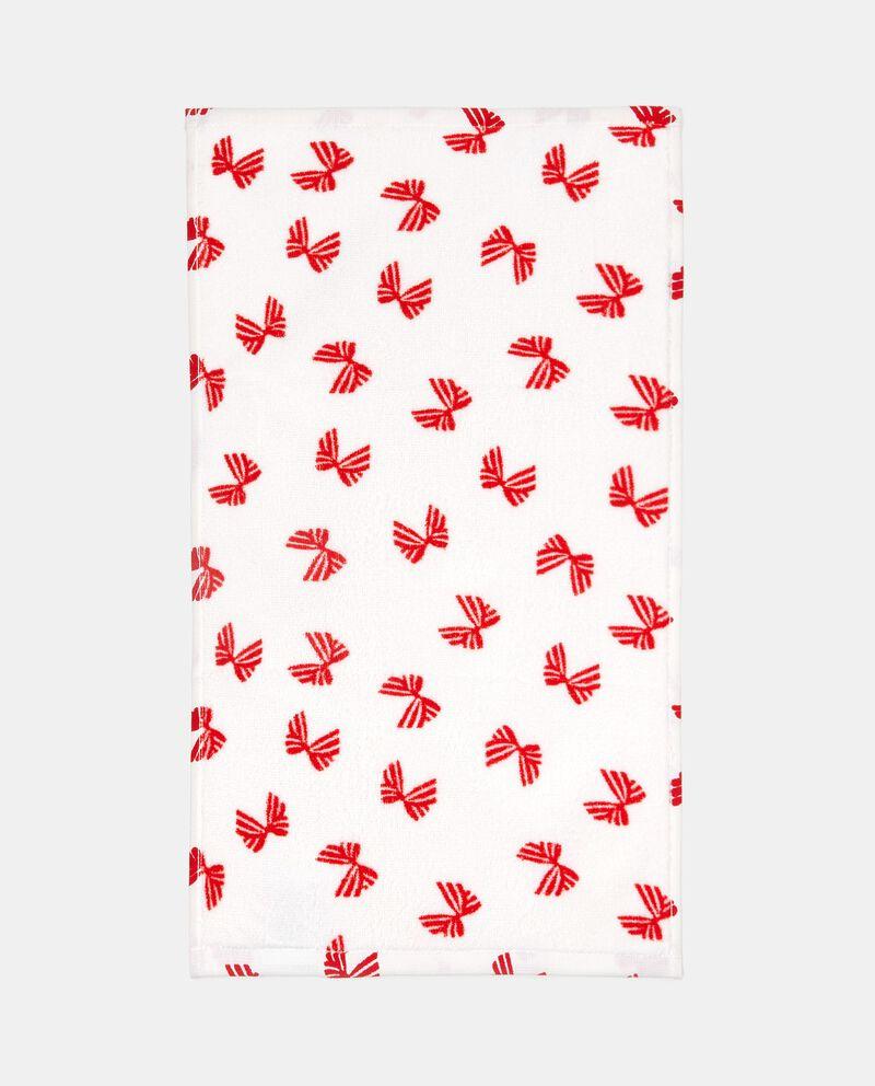 Set asciugamani ospite puro cotone con decoro fiocchi