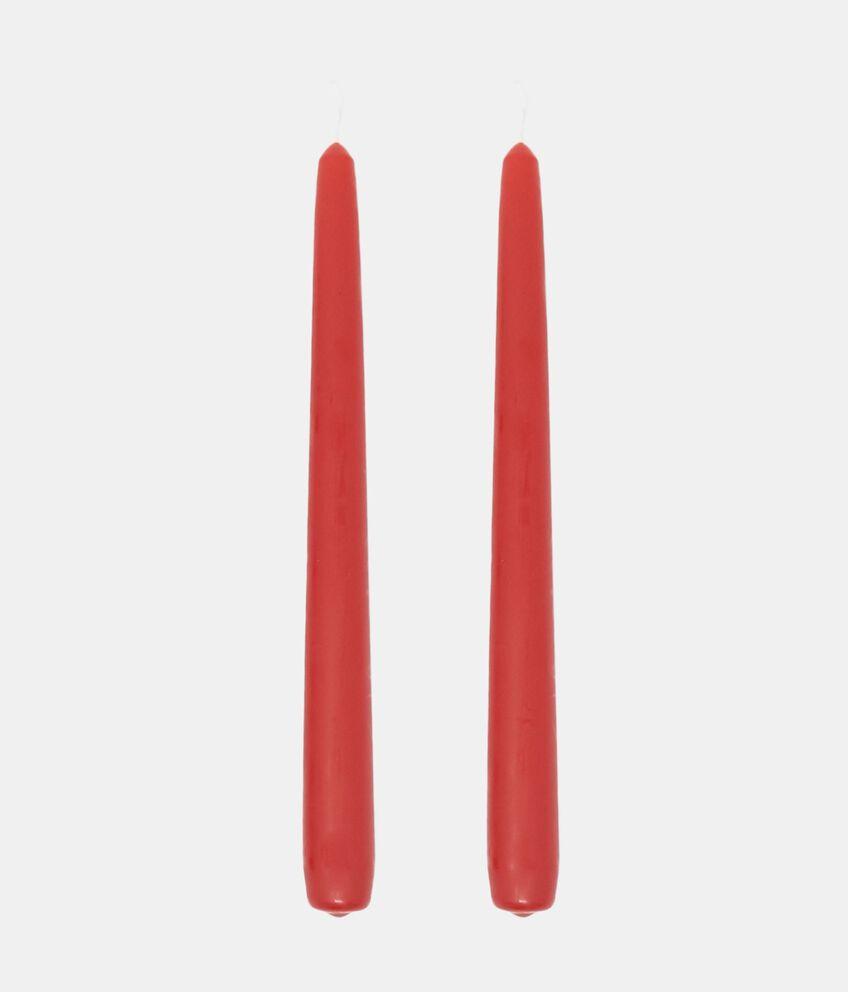 Set due candele coniche cera