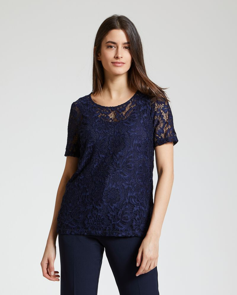 T-shirt in pizzo donna