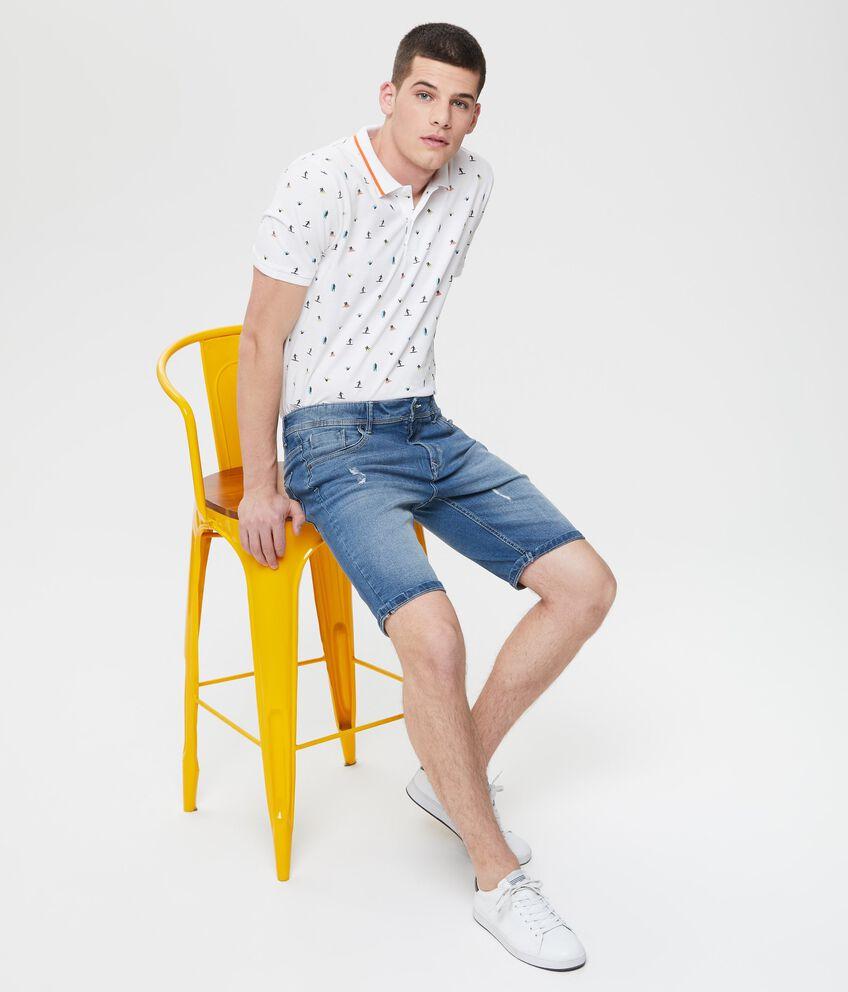 Shorts in denim slim fit con tasche