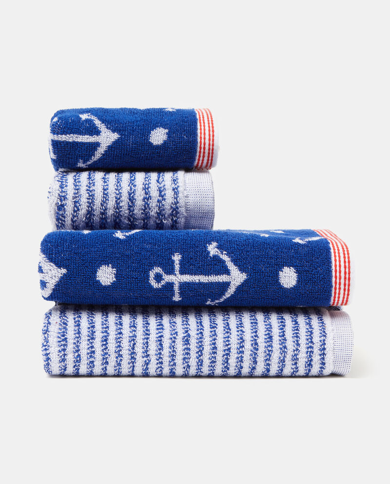 Set due asciugamani decori righe anfore
