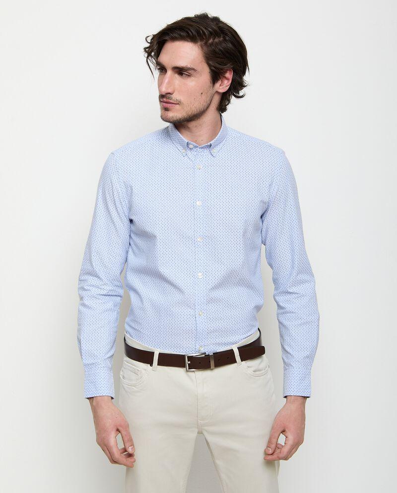 Camicia in puro cotone in fantasia uomo