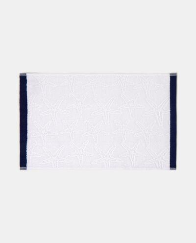 Asciugamano in puro cotone con decoro