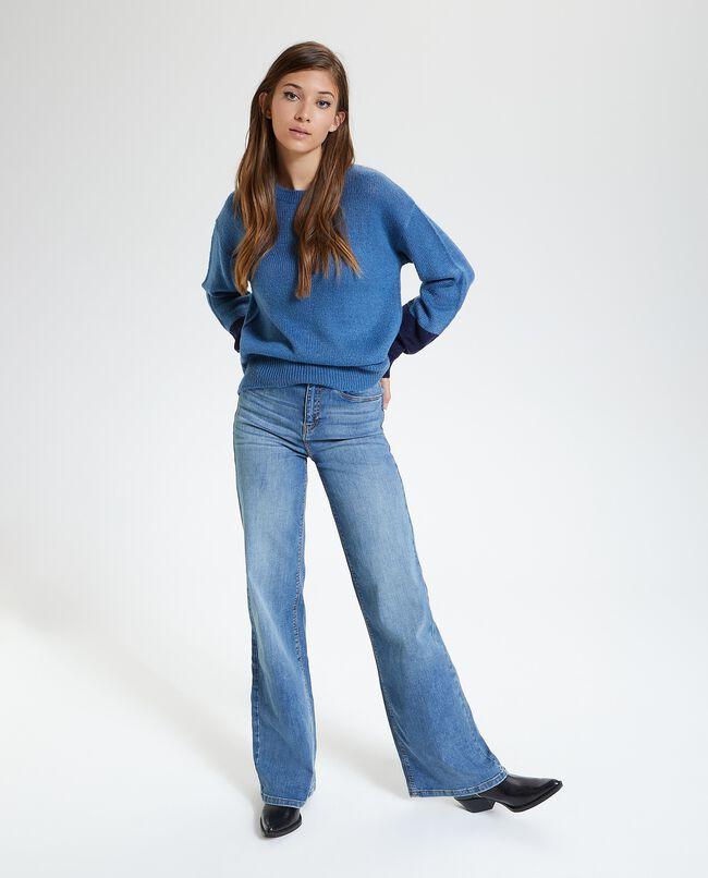 Jeans regular fit a zampa donna