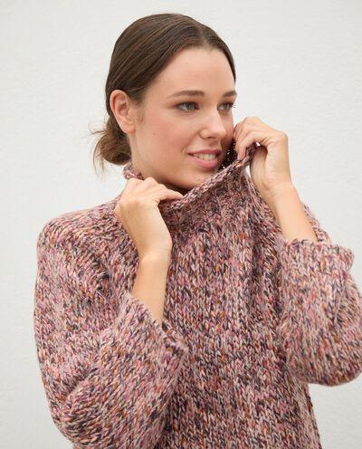 Maglione tricot knitwear con collo alto donna detail 2