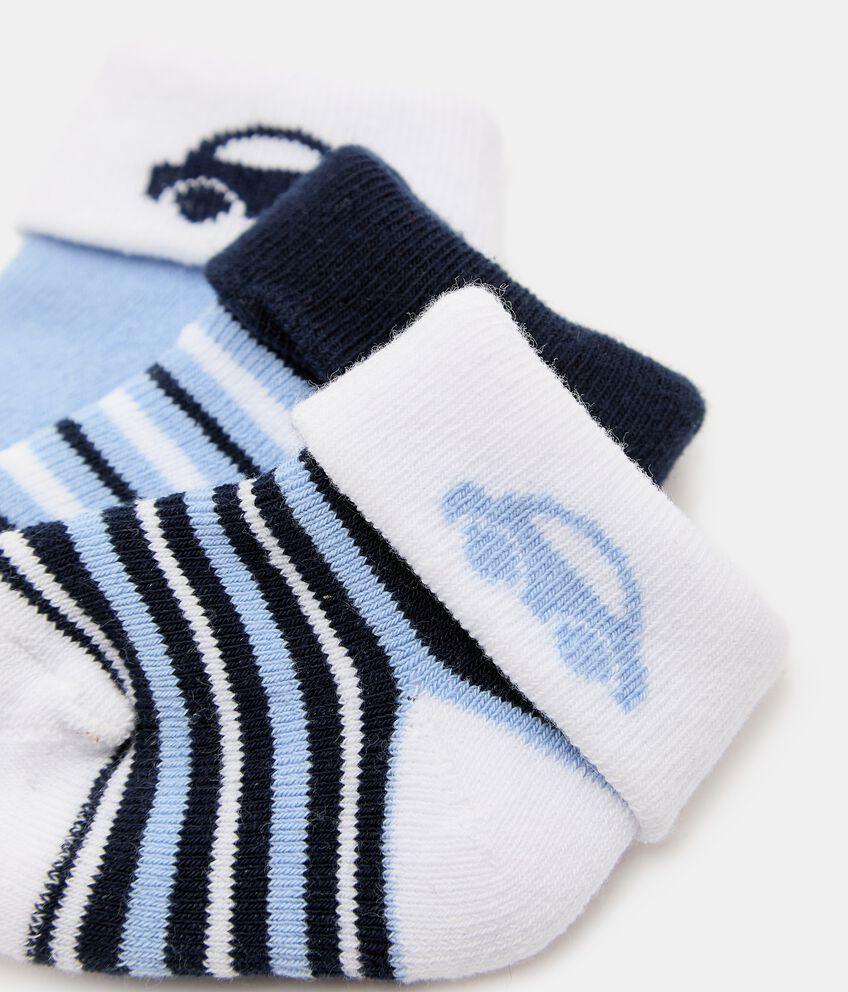 Pack con 3 paia di calzini in cotone organico double 2