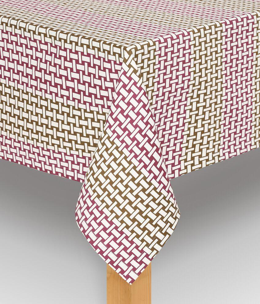Tovaglia con stampa intrecciata di puro cotone double 1