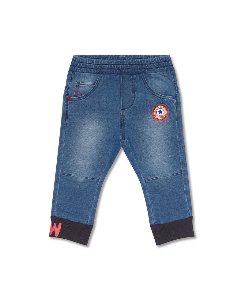 Jeans stretch con caviglie elasticate