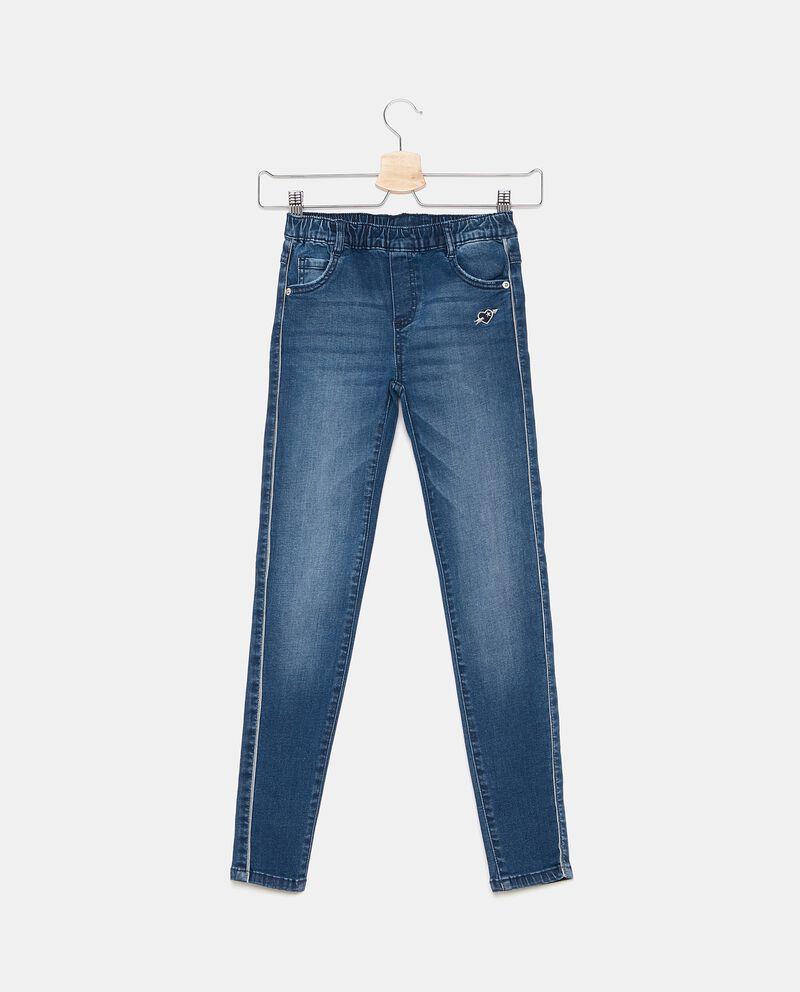Jeans con fascia elastica bambina