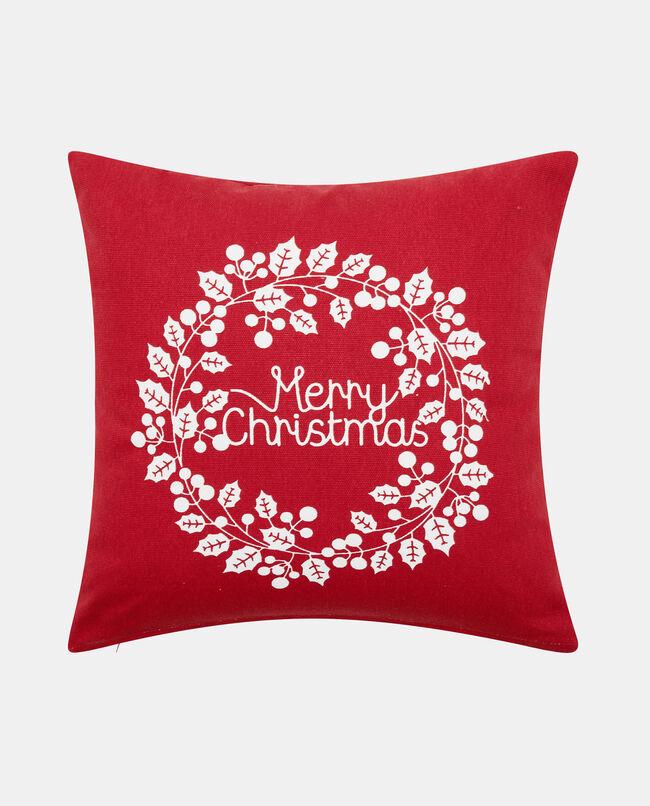Cuscino stampa lettering natalizia