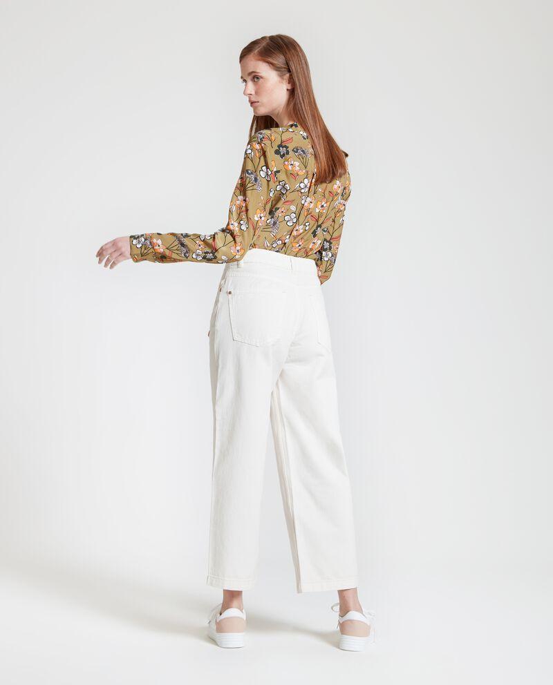 Pantaloni palazzo in puro cotone donna