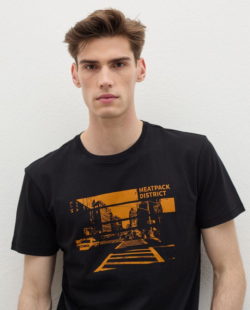 T-shirt stampata in cotone organico uomo single tile 2