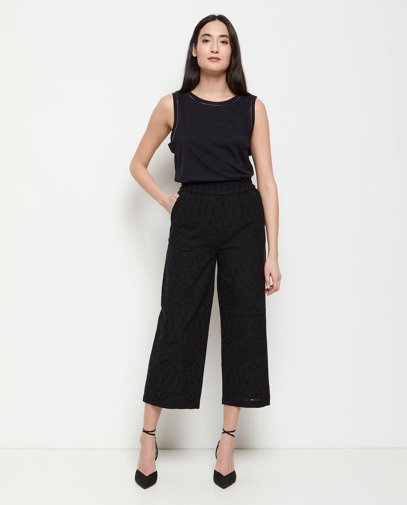 Pantaloni in puro cotone sangallo donna cover