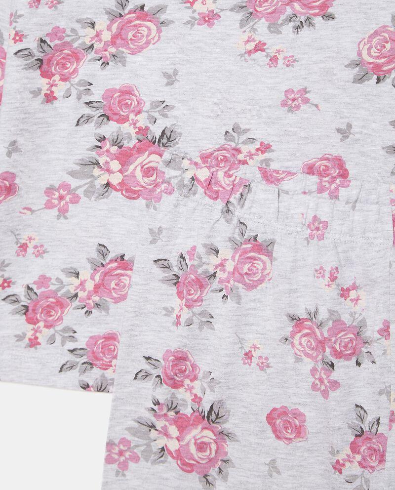 Set pigiama in fantasia floreale bambina